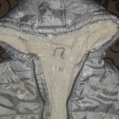 Курточка на девочку+шапка.Зима