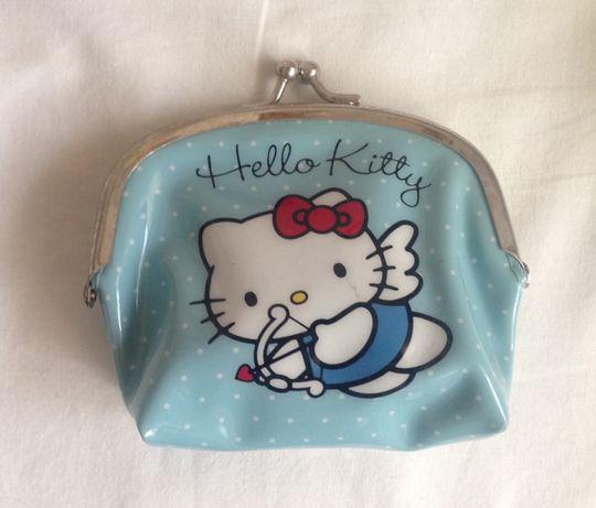Porta moedas Hello Kitty azul