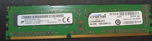 ddr3 4gb 1600 crucial