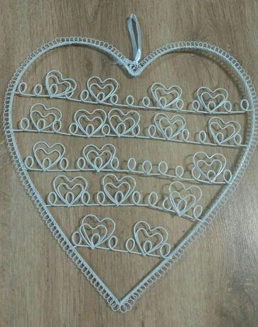 Organizer serce metalowe walentynki duże