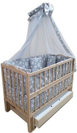Акция! Новый набор для сна! Кроватка маятник + ящик + матрас + постель