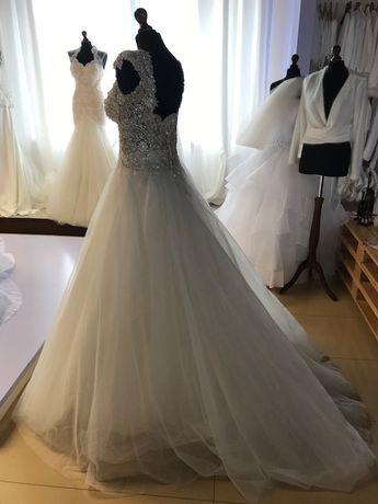 Suknia ślubna sukienka SWAROVSKI rozmiar 40 OKAZJA!!!