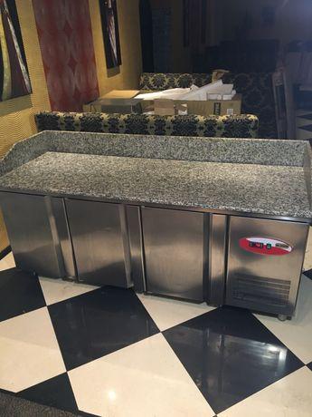 Холодильный стол с мраморной поверхностью для пиццы,суши INOKSAN 0+8