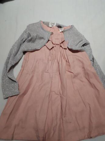 Sukienka niemowlęca Smyk wizytowa dziewczęca 86 zestaw