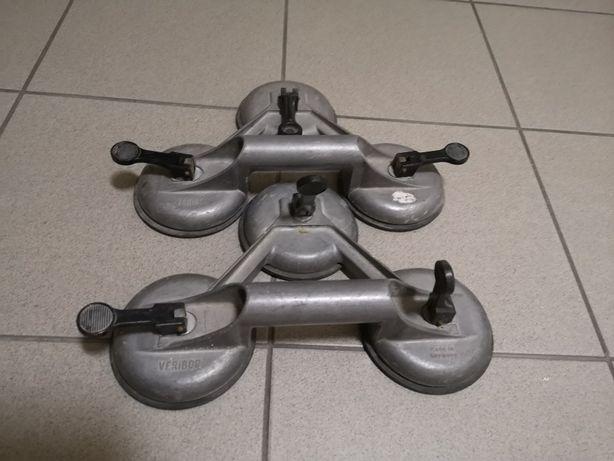 Przyssawka do szyb Veribor potrójna fi 120 mm metalowa