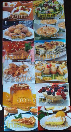 """Coleção de 12 livros """"Cozinhar com..."""""""