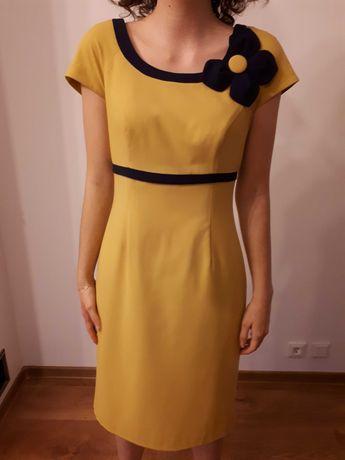 Żółta sukienka na co dzień
