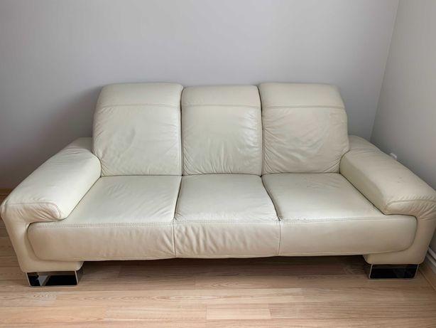 Sofa skórzana z naturalnej skóry firmy Etap