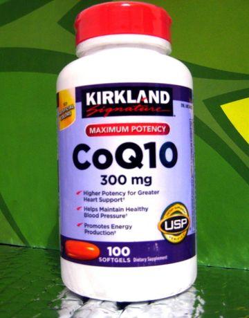 Усиленный Коэнзим Q10 (300 мг) Kirkland. 100 капсул