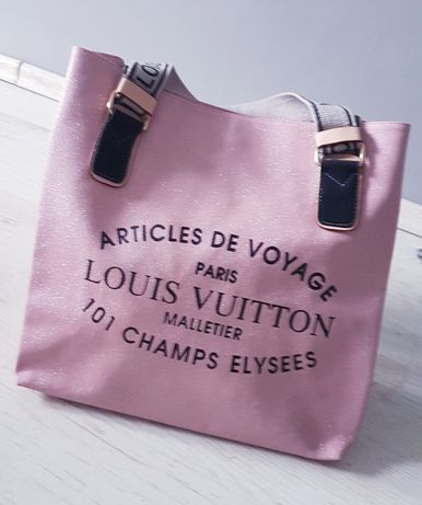 torebka damska Louis Vuitton różowa brokatowa