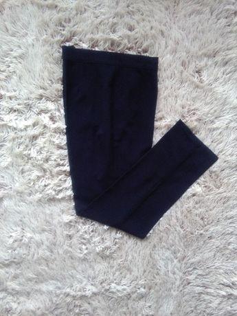 XL XXL Nowe granatowe eleganckie spodnie w kant Vintage