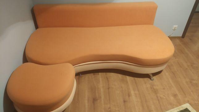 Sofa z pufą sprzedam