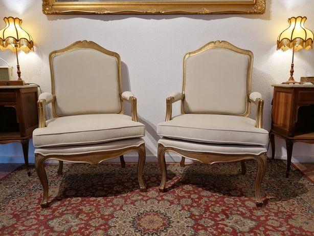 Par de Bergères (ou Cadeirões, Poltronas, Cadeiras de braços), Luís XV