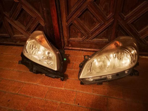 Reflektory, lampy przednie clio iii.