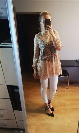 Narzutka, koronkowa narzutka, tunika koronkowa, ubrania damskie