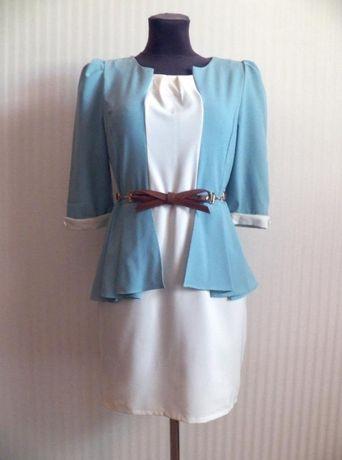 Интересное платье с удлиненной спинкой. 44-46 Платье на весну с рукаво