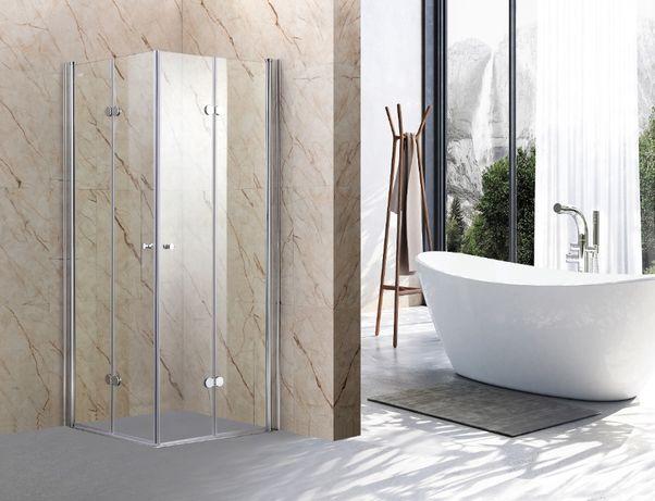 Promocja! kabina prysznicowa składana 90x90 kwadrat/CHROM/szkło 6 mm!
