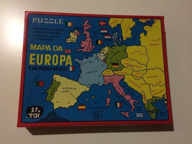 Puzzle Mapa da Europa