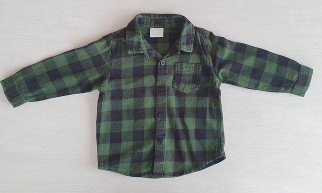 Koszula flanelowa f&f 80 9-12 miesięcy