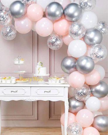 Festa 62 peças - 60 balões e arco + cola - Portes Gratis