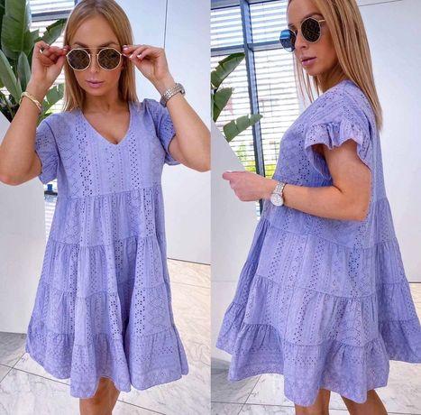 Prześliczna sukienka baby boho fiolet lila Miho's Italy
