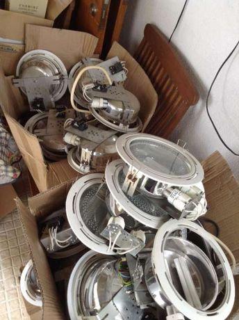 50 Armaduras e Condensadores de Lampadas