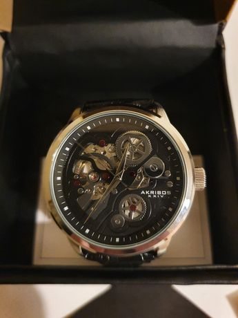 Relógio automático akribos xxiv ak538bk