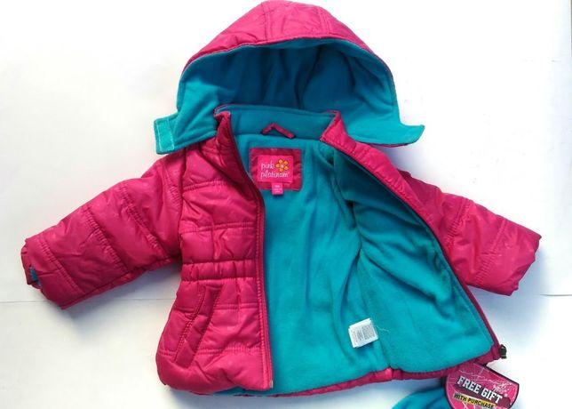 Демисезонная куртка и шапка в подарок , для девочки