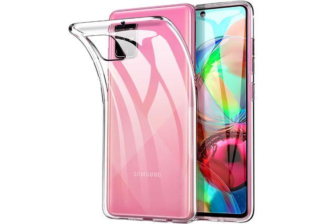Прозрачный силиконовый чехол для Samsung Galaxy A01 A21s A51 A71 M31