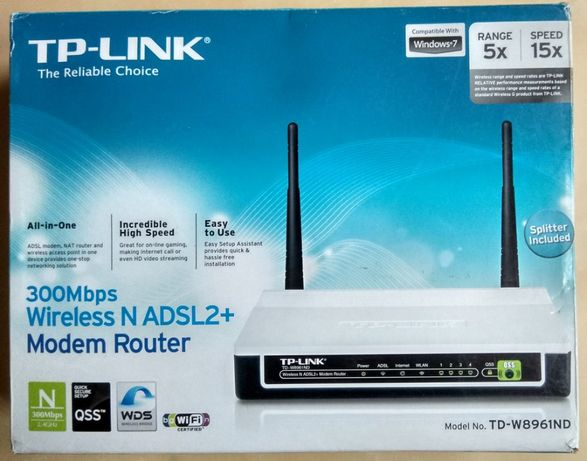 Router WiFi N TP-LINK TD-W8961ND 300Mbps ADSL