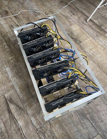 RX 580 pulse 8GB ферма / риг / майнинг ферма