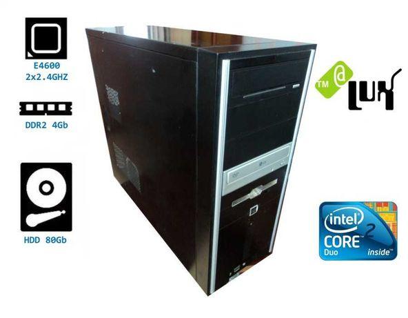 Компьютер(системный блок) Core2Duo E4600(2x2.4GHz)/DDR2-4Gb/HDD-80Gb