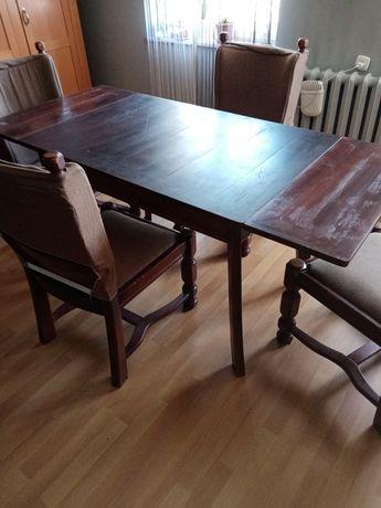 Sprzedam stół i krzesła dębowe