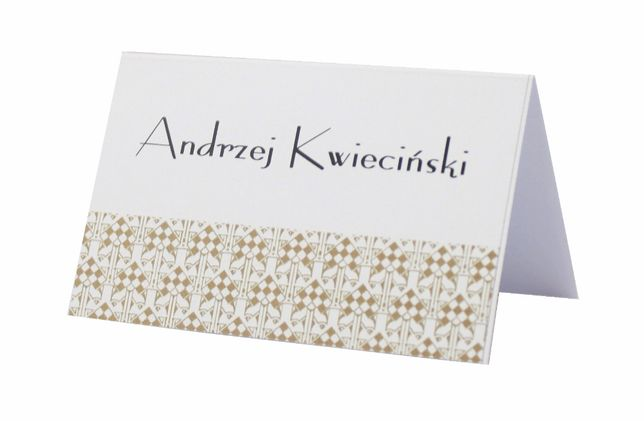 Winietki, wizytówki na stół weselny – kolekcja ART DECO - 6 szt