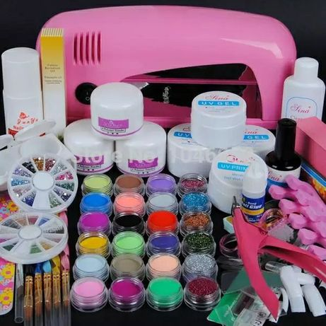 O melhor preço da NET - Kit unhas de gel com forno - nail art manicure