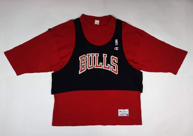 Футболка спортивная баскетбольная NBA Chicago Bulls Champion