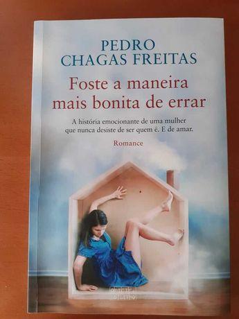 """Livro """"Foste a maneira mais bonita de errar"""" - Pedro Chagas Freitas"""