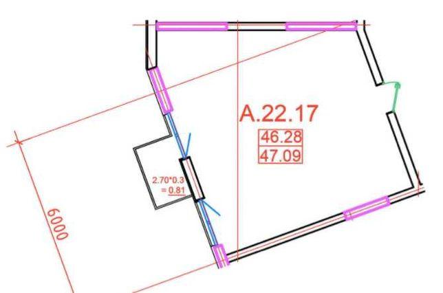 Коммерция Офис в Пространстве на Софиевской 47кв.м. Без Комиссии