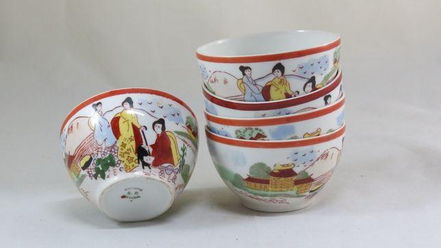 Cinco Tijelas/Taças/Malgas SP Coimbra em porcelana; Marcadas-10cm