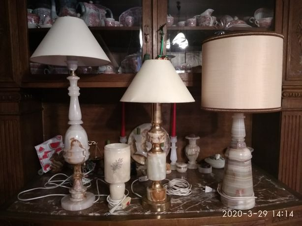 Stare lampy onyks