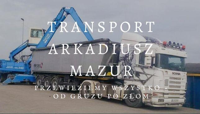 Usługi transportowe Transport  Płody rolne,gruz,ziemia