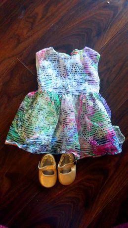 Sukienka kolorowa / Next / 3-6 miesięcy / rozmiar 68 / Buciki