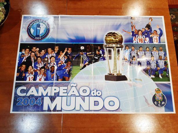 Poster Gigante Raro Porto Campeão do Mundo 2004