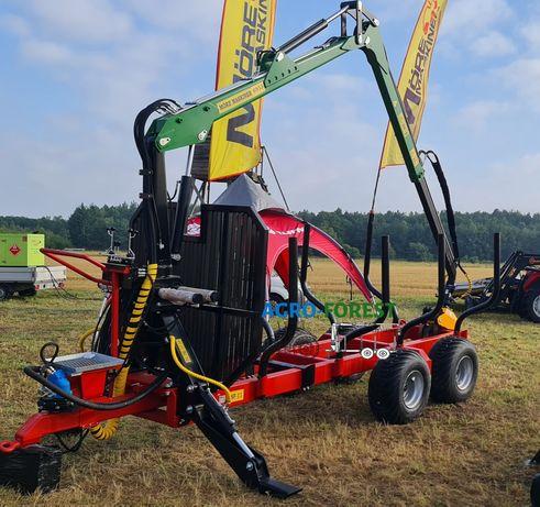 Nowa ! Przyczepa Leśna Maskiner 11t 7.1m 4Pary Hydraulika Leasing BMF
