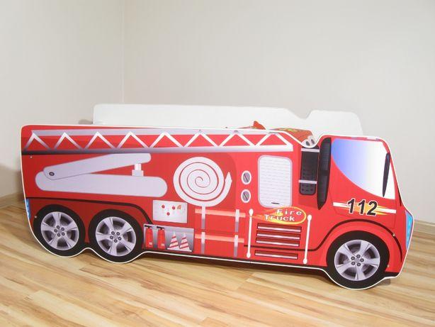 Łóżko dziecięce STRAŻ POŻARNA CIĘŻARÓWKA materac 140 x 70 czerwona