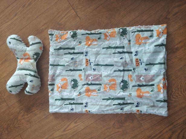 Zestaw dla niemowląt gniazdo rożek poduszka kołderka