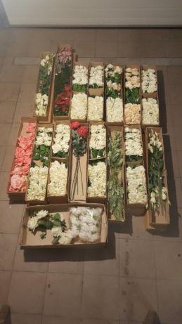 Sztuczne kawiaty do dekoracji - eustomia kremowa