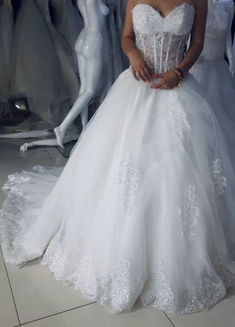Suknia Ślubna - szyta i sprowadzona z Włoch