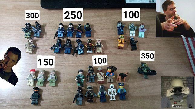 СРОЧНО! LEGO военные фигурки, STAR WARS, SIDAN, Brickarms. Оригинал!