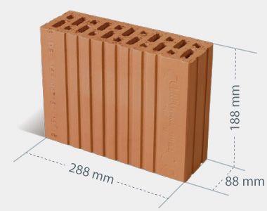 Pustak ceramiczny Mini Max 88x188x288 Cerpol Kozłowice